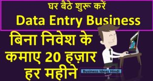 Data Entry Business